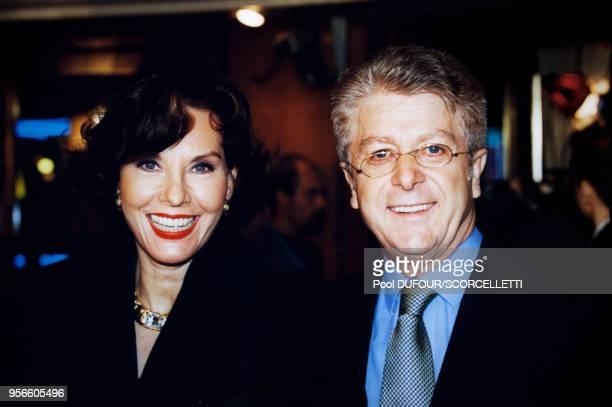Denise Fabre et son époux Francis Vandenhende lors de la soirée des 7 d'Or de la télévision le 2 octobre 1999 à Paris France