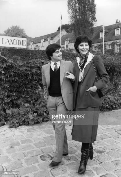 Denise Fabre et Thierry Le Luron au Trophée Lancôme le 29 octobre 1979 à SaintNom la Bretèche France