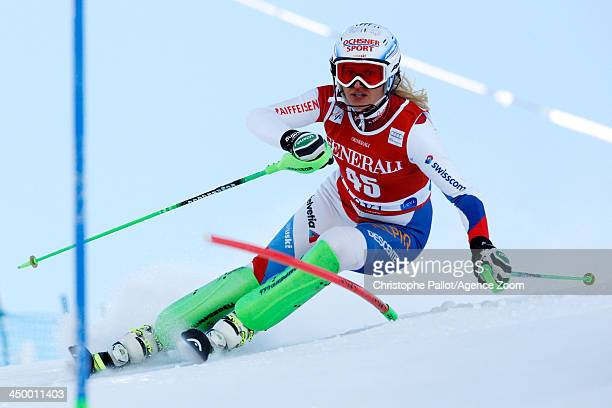Denise Feierabend of Switzerland competes during the Audi FIS Alpine Ski World Cup Women's Slalom on November 16 2013 in Levi Finland