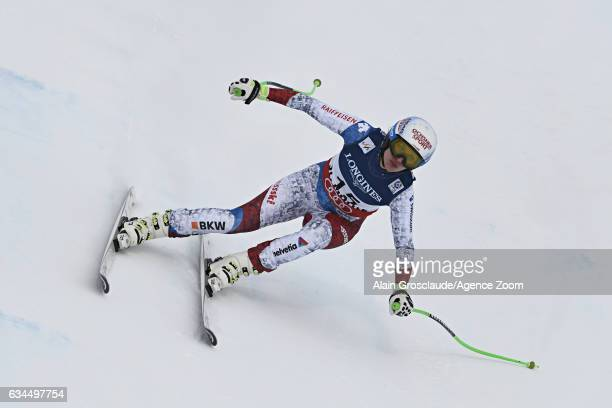 Denise Feierabend of Switzerland competes during the FIS Alpine Ski World Championships Women's Alpine Combined on February 10 2017 in St Moritz...