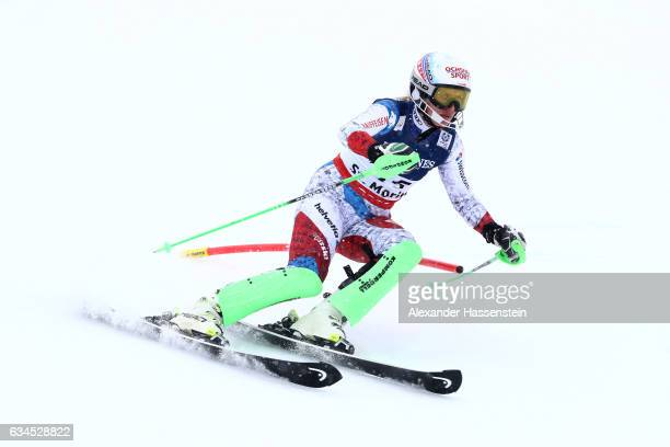 Denise Feierabend of Switzerland competes during the Women's Combined Slalom during the FIS Alpine World Ski Championships on February 10 2017 in St...