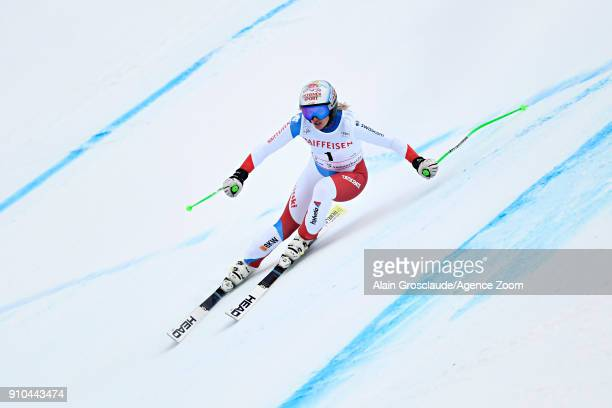 Denise Feierabend of Switzerland in action during the Audi FIS Alpine Ski World Cup Women's Combined on January 26 2018 in Lenzerheide Switzerland