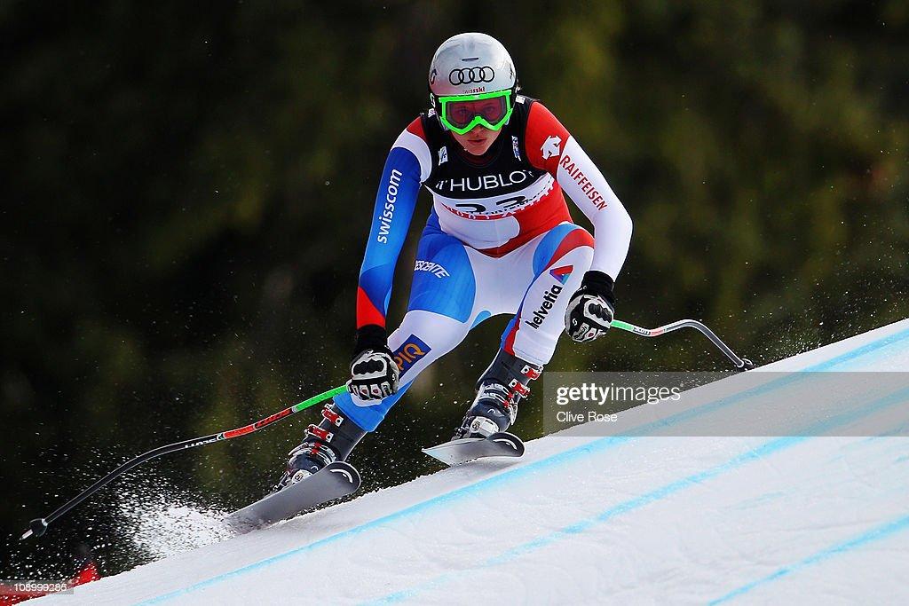 Women's Super Combined Downhill - Alpine FIS Ski World Championships : News Photo