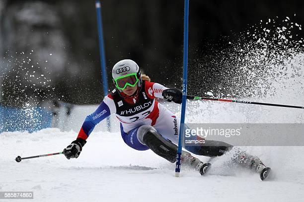 Denise Feierabend SUI Super Kombination der Frauen alpine Ski WM Weltmeisterschaft in Garmisch Partenkirchen 2011 alpin Skiing world championship