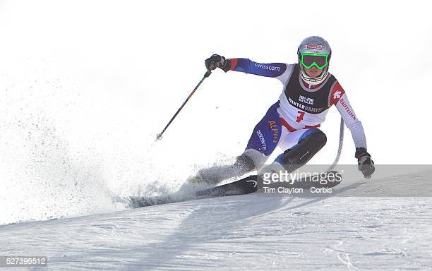 Denise Feierabend Switzerland in action during the Women's Slalom event during the Winter Games at Cardrona Wanaka New Zealand 24th August 2011 Photo...