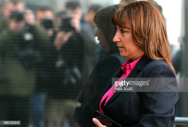 Denise Fergus arrives to address a parole hearing for Jon Venables by video link from Crosby near Liverpool in northwest England on May 22 2013 The...