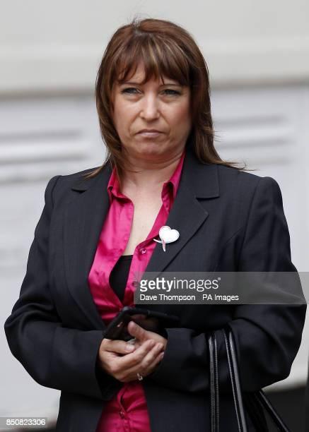 Denise Fergus leaves Burlington House in Crosby Merseyside