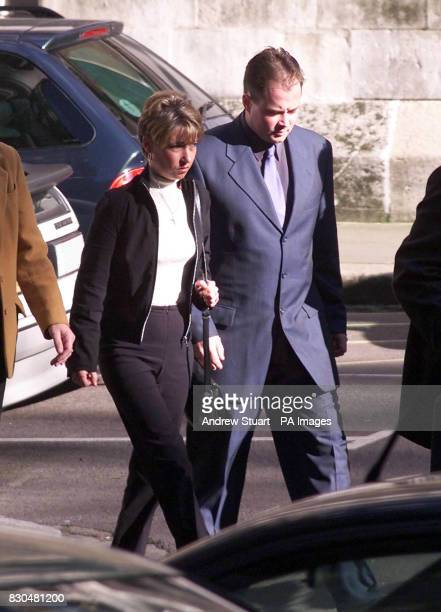 Denise Fergus mother of murdered toddler James Bulger with her husband Stuart as she leaves the the High Court in London *The Lord Chief Justice Lord...