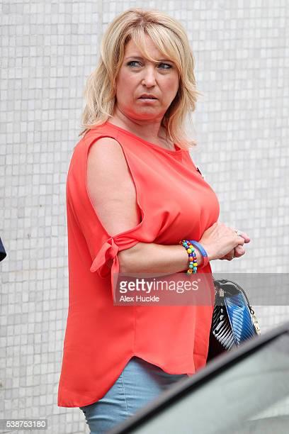 Denise Fergus seen leaving the ITV Studios on June 8 2016 in London England