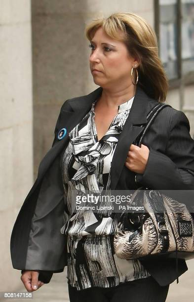 Denise Fergus the mother of James Bulger arrives at the Old Bailey in central London where her son's killer Jon Venables is due to appear by...