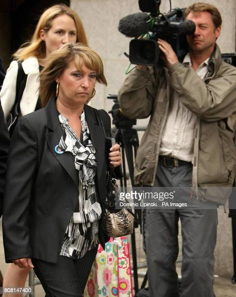 Denise Fergus the mother of James Bulger leaves the Old Bailey in central London following Jon Venables's appearance by videolink to enter pleas to...