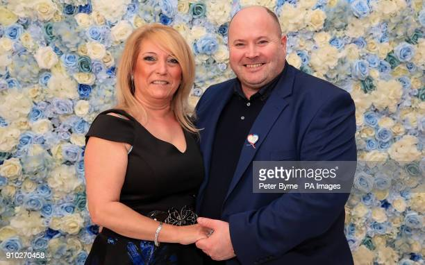 Denise Fergus the mother of murdered toddler James Bulger and her husband Stuart during the launch her book 'I Let Him Go' during its at The Suites...