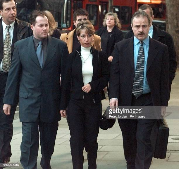 Denise Fergus the mother of murdered toddler James Bulger arrives with her husband Stuart at the Law Courts in London to hear the Lord Chief...