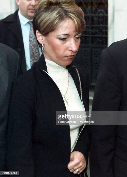 Denise Fergus the mother of murdered toddler James Bulger arriving at the Law Courts in London to hear the Lord Chief Justice's ruling on the minimum...