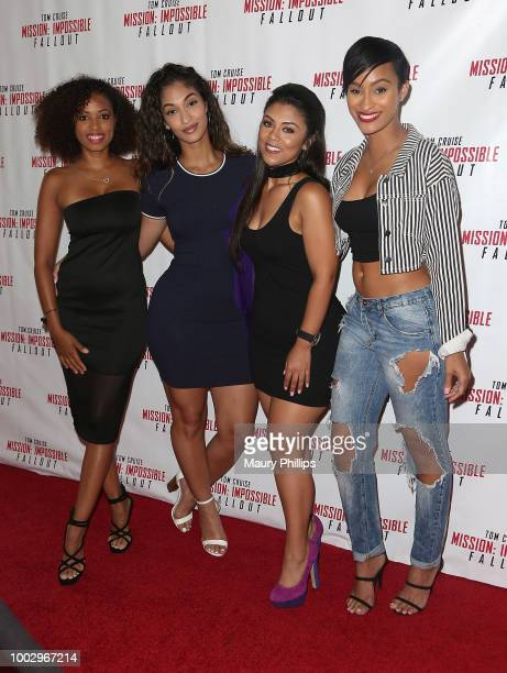 """Denise Garcia, Giselle Joanne, Brandi Marie King and Janeisha John attend """"Mission: Impossible - Fallout"""" Screening on July 20, 2018 in Los Angeles,..."""
