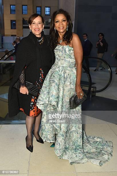 Denise Gardner and Pamela Joyner attend Abstracted Black Tie Dinner Hosted by Pamela Joyner Fred Giuffrida and the Ogden Museum of Southern Art to...