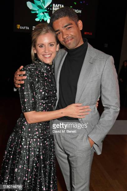Denise Gough and Kingsley BenAdir attend the BAFTA Breakthrough Brits celebration event in partnership with Netflix at Banqueting House on November 7...