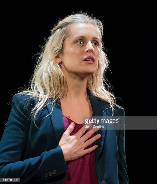 Denise Gough as Emma performs on stage during a performance of 'People Places and Things at Wyndhams Theatre on March 18 2016 in London England