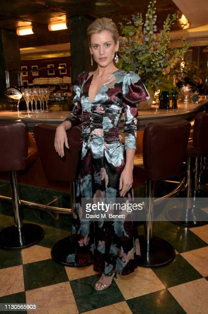 Denise Gough attends the official Erdem London Fashion Week dinner at J Sheekey Atlantic Bar on February 18, 2019 in London, England.