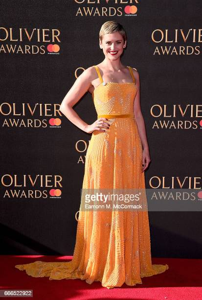 Denise Gough attends The Olivier Awards 2017 at Royal Albert Hall on April 9 2017 in London England
