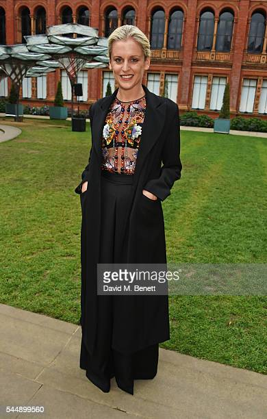 Denise Gough attends the Olivier Awards Summer Party in celebration of the new exhibition 'Curtain Up' at The VA on July 4 2016 in London England