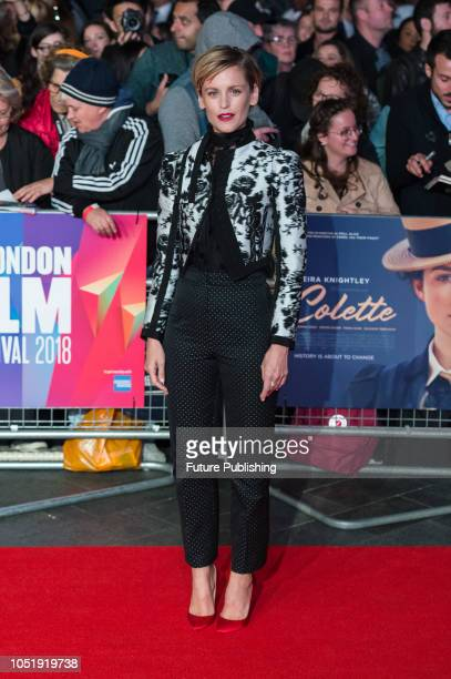 Denise Gough attends the UK film premiere of 'Colette' at Cineworld Leicester Square during the 62nd London Film Festival BFI Patrons Gala October 11...