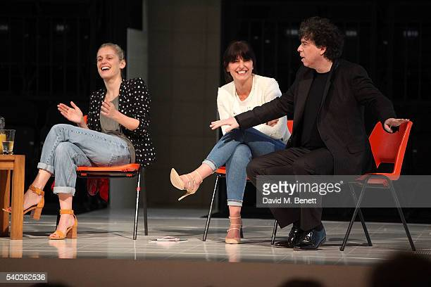 Denise Gough Davina MacCall and Sacha Gervais speak at a QA following the 'People Places Things' fundraising gala performance in aid of Action On...