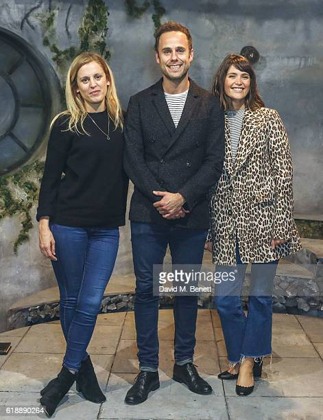 Denise Gough Jay Taylor and Gemma Arterton attend 'The Acedian Pirates' Press Night at Theatre 503 on October 28 2016 in London England