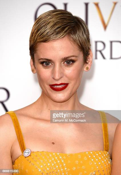 Denise Gough poses in the winners room at The Olivier Awards 2017 at Royal Albert Hall on April 9 2017 in London England