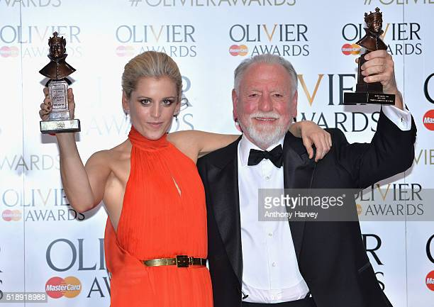 Denise Gough winner of the Best Actress Award for 'People Places and Things' and Kenneth Cranham winner of the Best Actor award for 'The Father' pose...