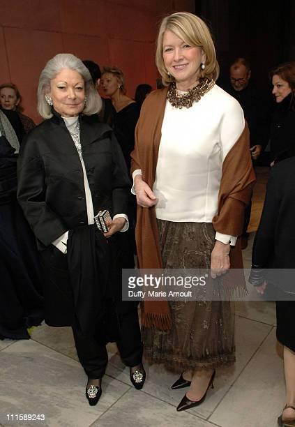 Denise Hale and Martha Stewart during Chado Ralph Rucci 's 25th Anniversary Retrospective at FIT Museum in New York City New York United States