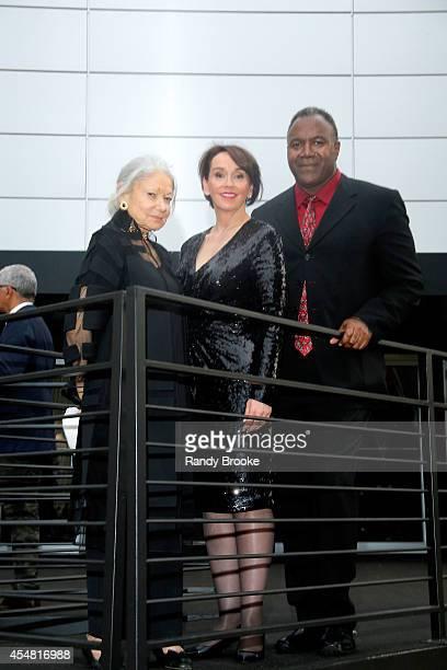 Denise Hale President of Academy of Art University Dr Elisa Stephens and Jamie Williams attend the Academy Of Art University Spring 2015 Collections...