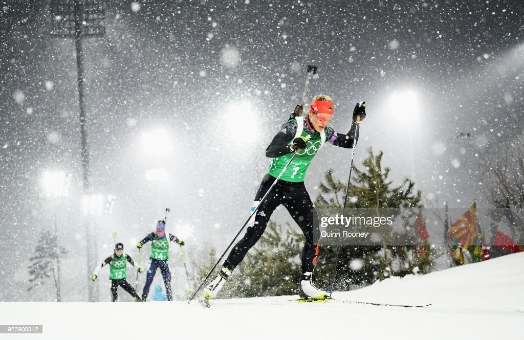 KOR: Biathlon - Winter Olympics Day 13