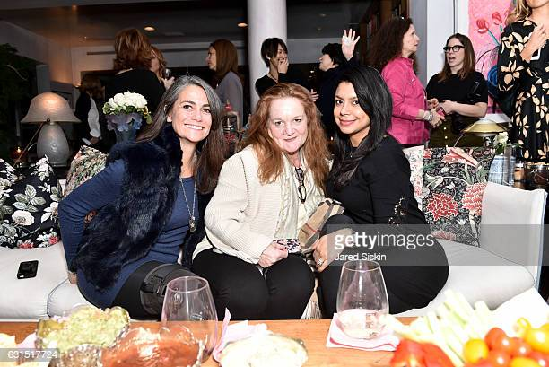 Denise Holden Patricia Johnson and Joanna Castro attend The HSN Celebration for Marlo Thomas' Debut Fashion Line That Woman By MARLO THOMAS Launching...