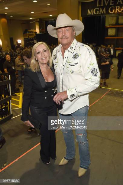Denise Jackson and Alan Jackson attend the 53rd Academy of Country Music Awards at MGM Grand Garden Arena on April 15 2018 in Las Vegas Nevada