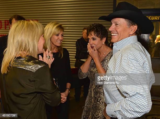 Denise Jackson Norma Strait Nancy Jonesand George Strait attend Playin' Possum The Final No Show Tribute To George Jones at Bridgestone Arena on...
