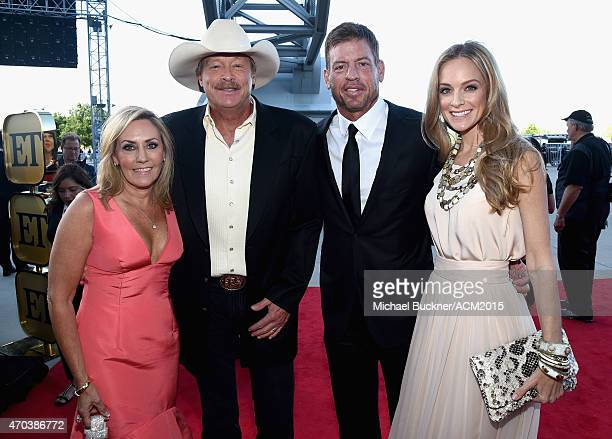 Denise Jackson Singersongwriter Alan Jackson TV personality/retired NFL player Troy Aikman and Model Tracy Ripsin attend the 50th Academy of Country...