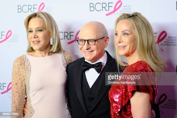 Denise LeFrak Dr Larry Norton and Roberta Amon attend the Breast Cancer Research Foundation Hot Pink Gala hosted by Elizabeth Hurley at Park Avenue...