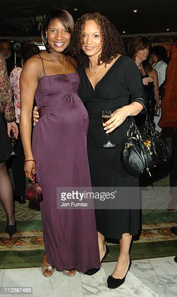 Denise Lewis and Angela Griffin during UK FiFi Awards 2006 Inside at The Dorchester in London Great Britain