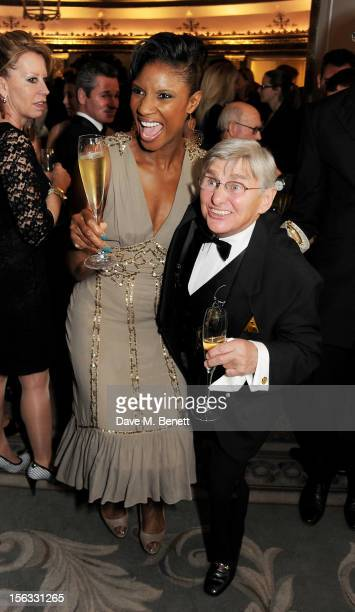 Denise Lewis and Willie Carson attend the Cartier Racing Awards 2012 at The Dorchester on November 13 2012 in London England