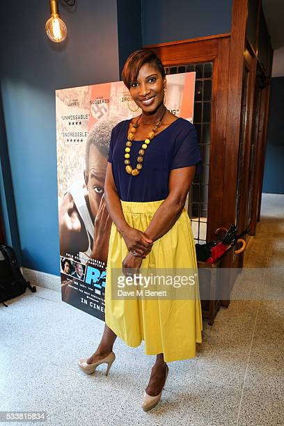 Denise Lewis attends a gala screening of 'Race' celebrating the 80th anniversary of Jesse Owens winning at the Berlin 1936 Olympics at The Olympic...