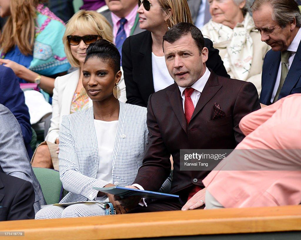 Celebrities Attend Wimbledon 2013 - Day 1 : News Photo