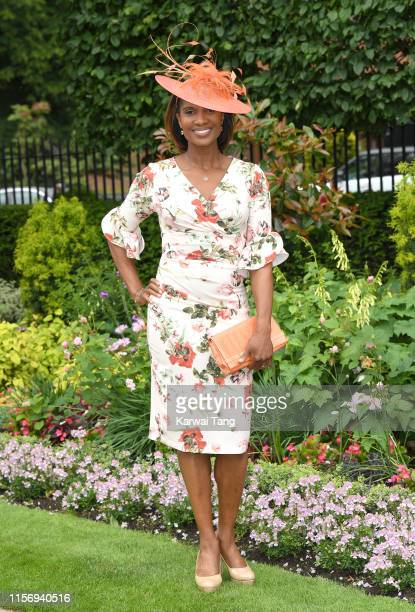 Denise Lewis attends day two of Royal Ascot at Ascot Racecourse on June 19 2019 in Ascot England