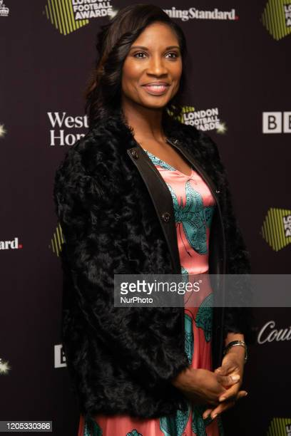 Denise Lewis attends London Football Awards at The Roundhouse on March 05 2020 in London UK