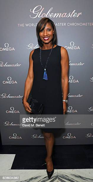 Denise Lewis attends OMEGA Constellation Globemaster dinner at Marcus on December 8 2016 in London England