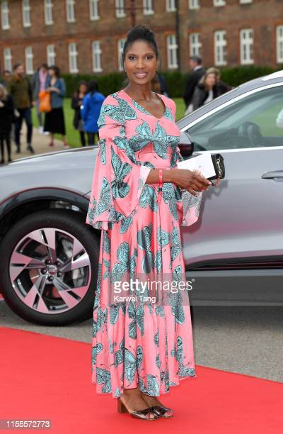Denise Lewis attends the Sentebale Audi Concert at Hampton Court Palace on June 11 2019 in London England Sentebale charity was founded by Their...