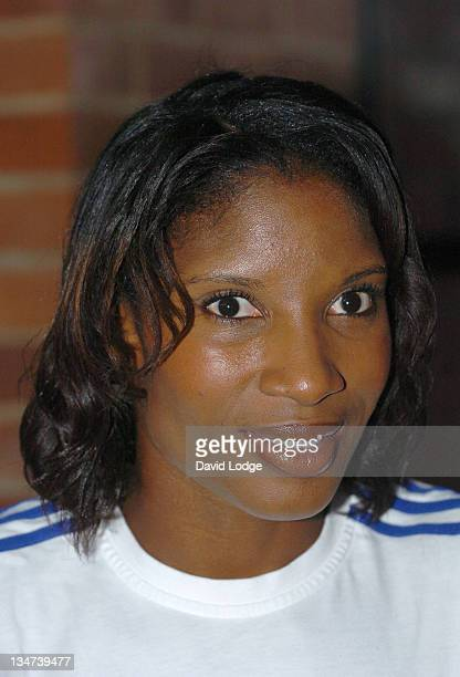 Denise Lewis during Olympic 2012 Game Launch July 27 2005 at East Ham in London Great Britain
