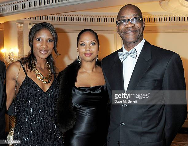 Denise Lewis Michelle Moses and Ed Moses attend the Cartier Racing Awards 2011 at The Dorchester Hotel on November 15 2011 in London England