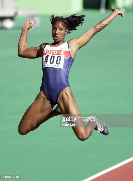 Denise Lewis of Great Britain competes in the long jump in the IAAF World Championships in Athletics at Stade de France on Sunday Aug 24 2003