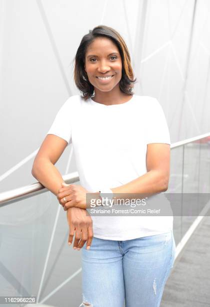 Denise Lewis poses at the first ever 'All Star Netball for Sport Relief' event at MS Bank Arena on July 19 2019 in Liverpool England